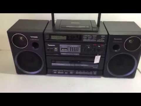 PANASONIC RX-DT680 CD Radio Double Cassette Boombox