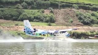 Seaplane Takeoff from Nuwara eliya,  Gregory lake, Sri Lanka
