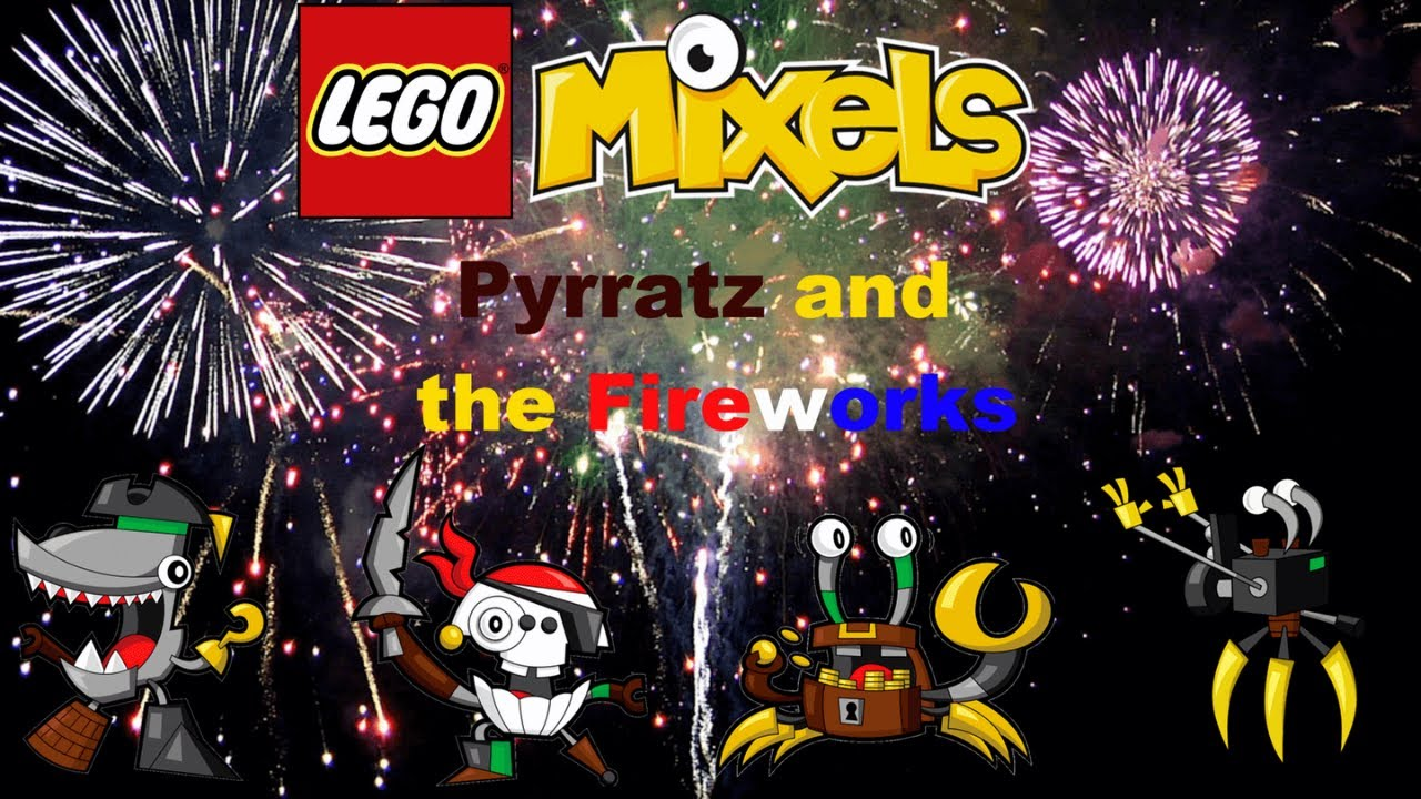 Lego Mixels Shouts 6: Pyrratz and the Fireworks (Stop Motion)