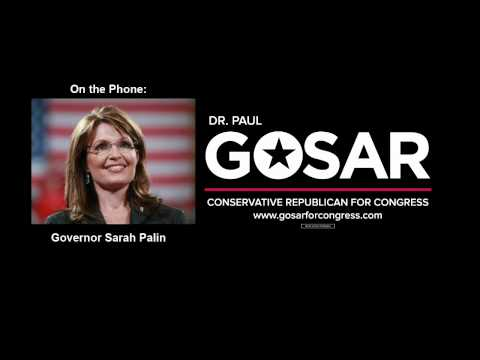 Governor Sarah Palin Endorses Congressman Paul Gosar