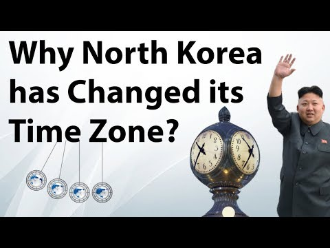 North Korea adjusts Time Zone to sync with South Korea - How Time Zone works - Current Affairs 2018