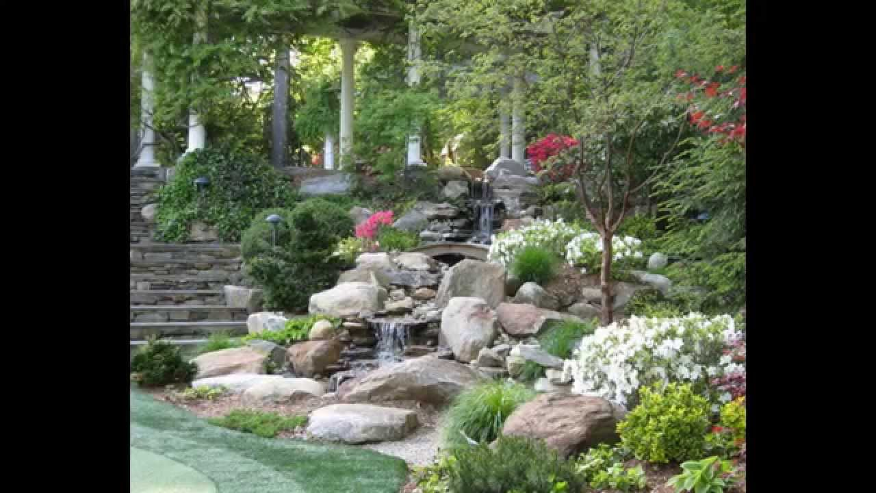 creative small garden waterfall design youtube - Waterfall Landscape Design Ideas