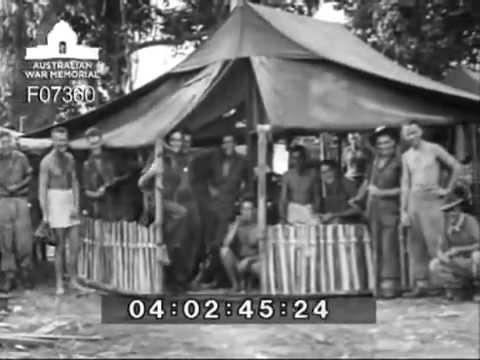 Activities at 2/2 Commando Squadron camp, Rabaul, 5-8 October 1945.