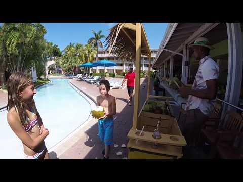 Fresh coconut water at the Holiday Inn Sunspree Resort, Montego Bay, Jamaica 2017