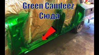 Начал шпаклевать и Красить Candeez Green Chevrolet Impala 61
