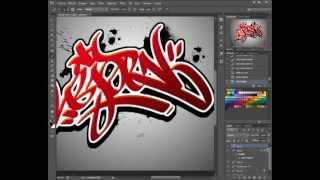 Haciendo un TAG en Photoshop CS6 / Making a Graffiti Tag in Photoshop Cs6