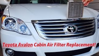 Toyota Avalon Cabin Air Filter Replacement 2005-2012 Model Avalon(, 2015-03-17T03:59:12.000Z)