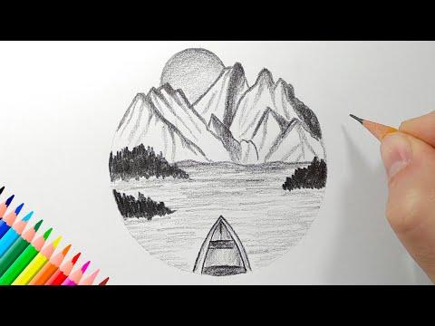 Как нарисовать ЛЕТНИЙ ПЕЙЗАЖ карандашом
