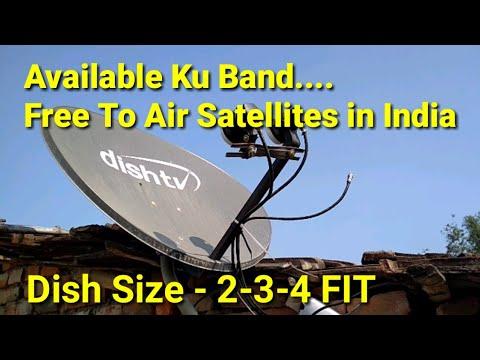 Available Ku Band Free To Air    Satellite list in India, Ku Band Dish Antina 2018