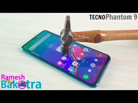 Tecno Phantom 9 Screen Scratch Test