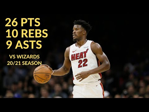 [Highlights] Jimmy Butler 26 Pts 9 Asts 10 Rebs Highlights vs Washington Wiizards | NBA 20/21 Season