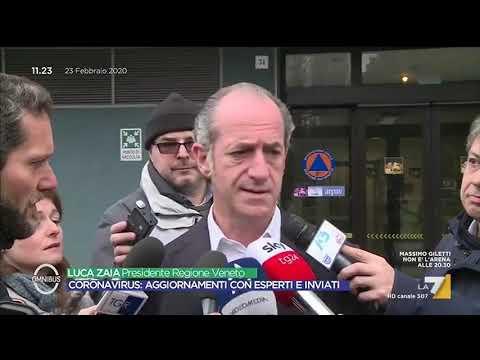 Aggiornamenti Coronavirus - Il Presidente Zaia: '25 contagiati in Veneto, dobbiamo adottare ...
