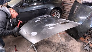 V8 Vantage Pt 6 - Fixing Crash Damaged Body Panels