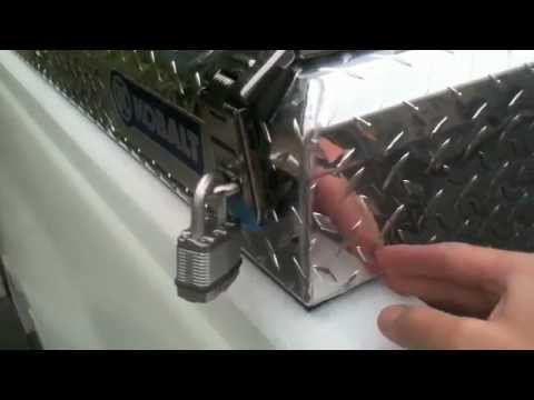 how to install truck tool box with j bolts 2