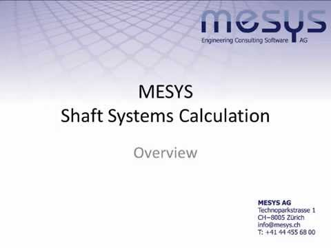 MESYS Shaft Systems Calculation