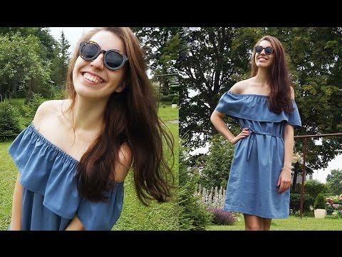 0 - Як зшити плаття з відкритими плечима?