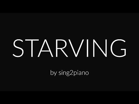 Starving (Piano Karaoke Instrumental)...