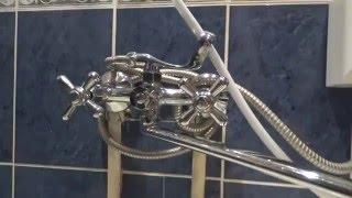 частичный ремонт ванны, замена труб полипропилен, установка тумбочки с раковиной