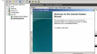 Extend C: drive Windows 2008 R2 with Vmware