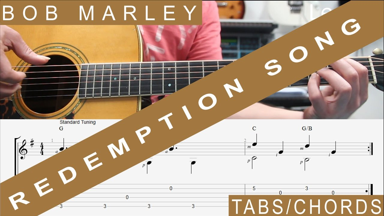 Bob Marley Redemption Song Tabs Guitar Lesson Easy At 225 Min