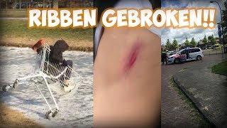 MET WINKELKARRETJE DOOR IJS ZAKKEN!! (GAAT FOUT)   Video 17