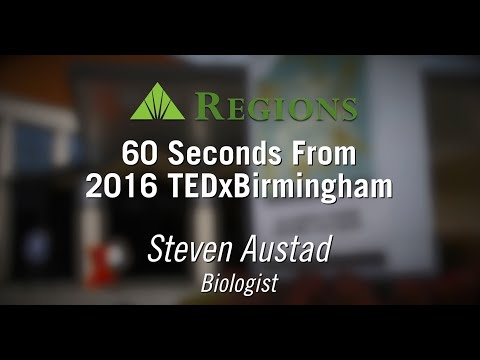 90 seconds at TEDxBirmingham 2016 with Biologist Steven Austad
