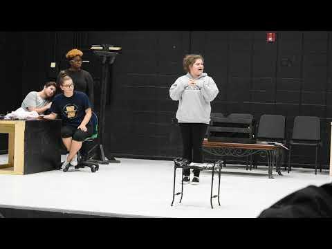 Steel Magnolias rehearsal at North Brunswick High School