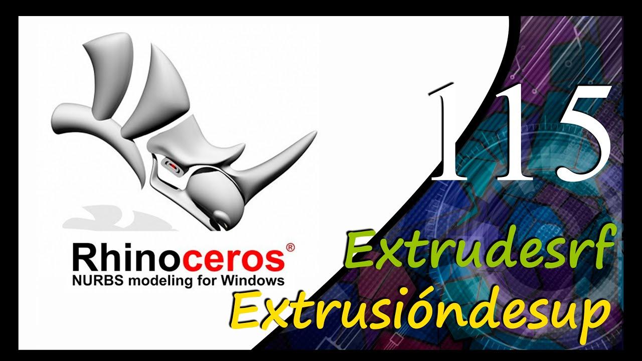 Rhinoceros (Extrudesrf - Extruirsup)