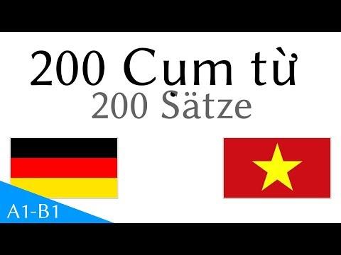 200 Cụm từ  - Tiếng Đức - Tiếng Việt