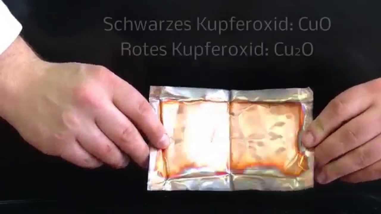 kupfer reagiert mit sauerstoff oxidation youtube. Black Bedroom Furniture Sets. Home Design Ideas