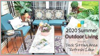 2020 Outdoor DIY & Decor Challenge 🌞 Summer Outdoor Living    Sitting Area Refresh Ideas