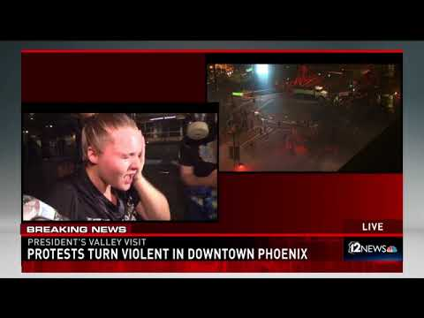 Protests turn violent in Phoenix