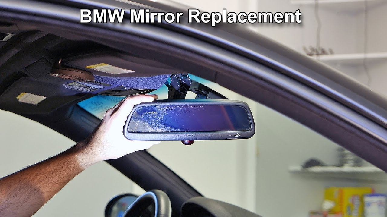 Bmw Rear View Mirror Removal And Installation Youtube