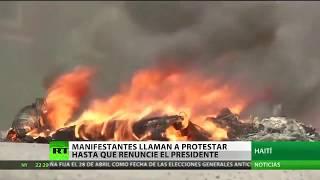 Haití: Manifestantes instan a seguir protestando hasta que renuncie el presidente