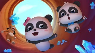 Baby Panda Drops into Mysterious Cave | Panda's Magic Tie | Magical Chinese Characters | BabyBus