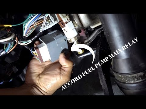 2000 accord fuel pump main realy location, removal & installation - youtube  youtube