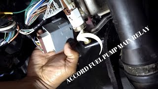 2000 Accord Fuel Pump Main Realy Location Removal Installation Youtube