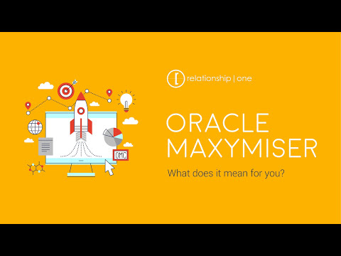 Relationship One welcomes Maxymiser to the Oracle Marketing Cloud family