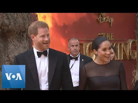 British Royals Harry and Meghan Arrive to the London Premiere of The Lion King
