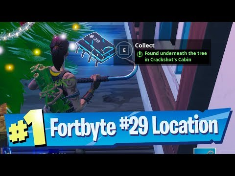 Fortnite Fortbyte #29 Location - Found underneath the tree in Crackshot's Cabin