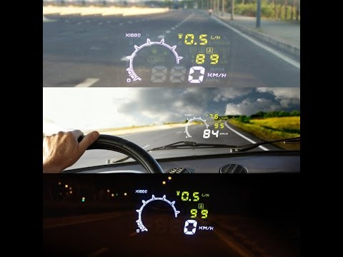 "KKMOON 5.5"" Large Screen Auto Car HUD Head Up Display with OBD2 Interface Plug & Play Review & Setup"