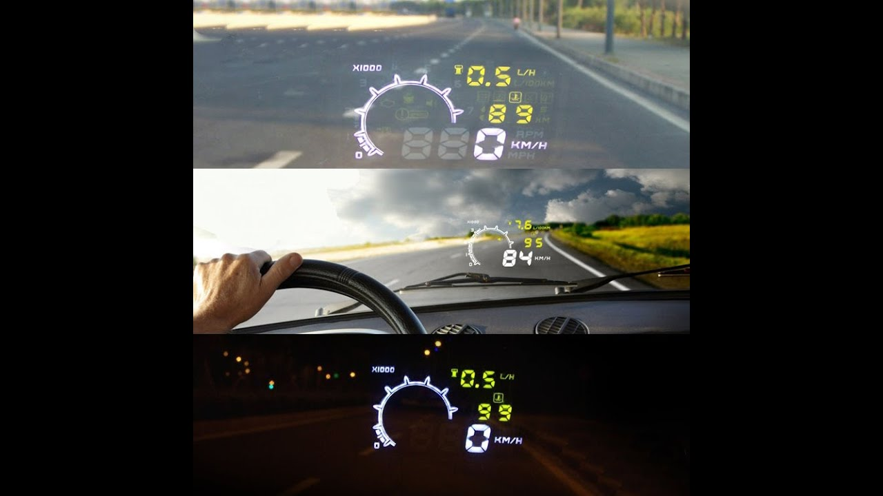 kkmoon 5 5 large screen auto car hud head up display with. Black Bedroom Furniture Sets. Home Design Ideas