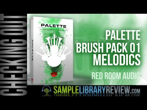 Checking Out: Palette Brush Pack 01 - Melodics by Red Room Audio