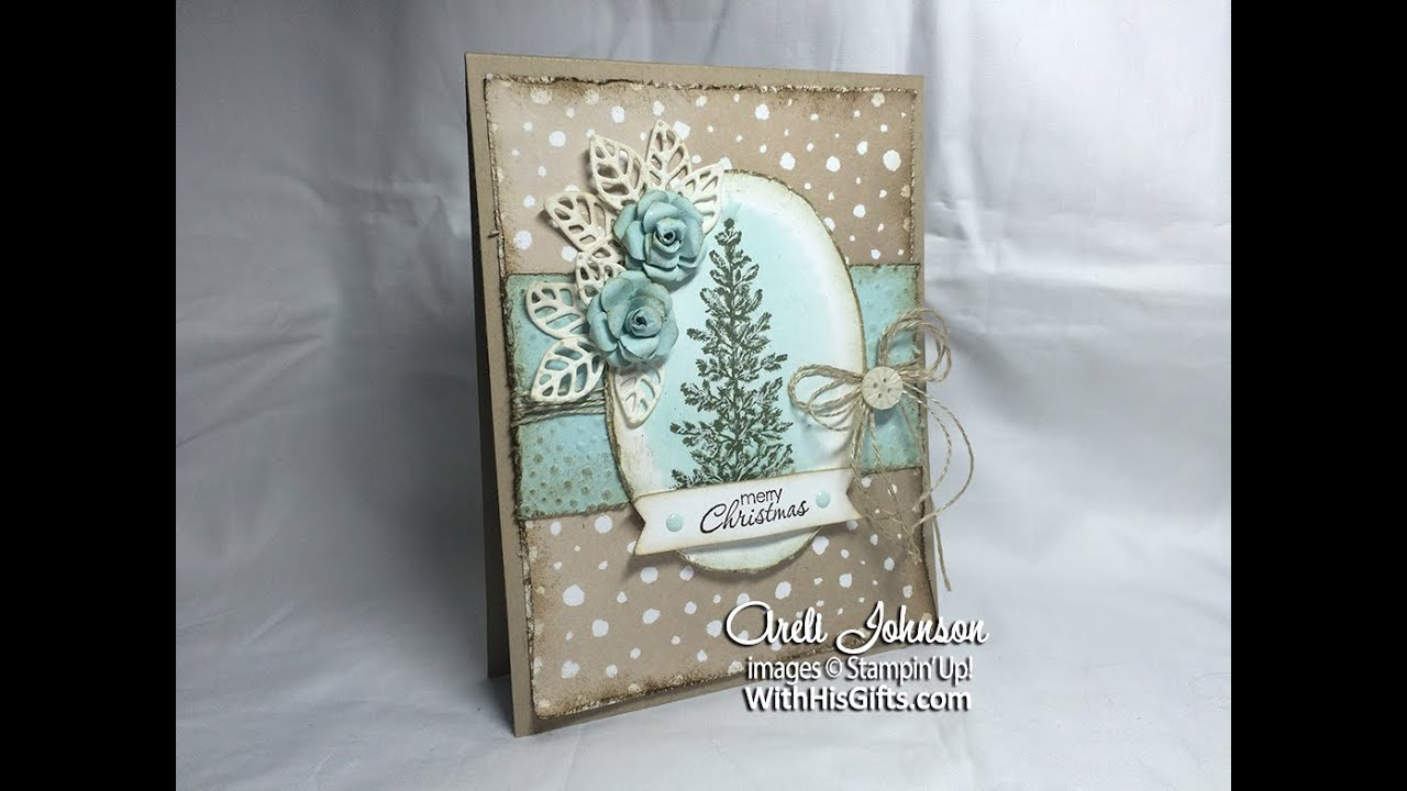 Vintage Shabby Chic Christmas Card YouTube