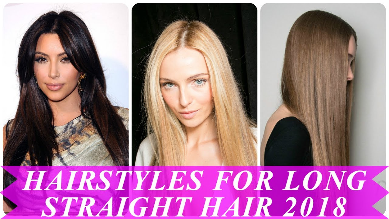 beautiful hairstyles for straight long hair for women - youtube