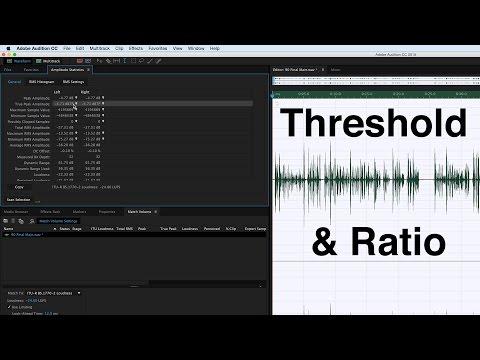 Dialogue Audio Compression: Threshold & Ratio Settings