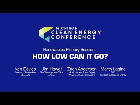 Renewable Plenary at the Michigan Clean Energy Conference