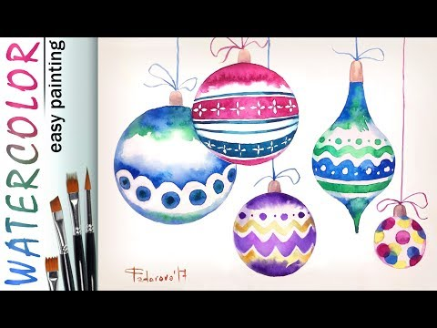 """""""Christmas"""" greeting card How to paint 🎨WATERCOLOR Tutorial for beginners thumbnail"""