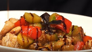 Готовим дома ресторанное меню. Теплый салат с индейкой. Ресторан ПРОмясо