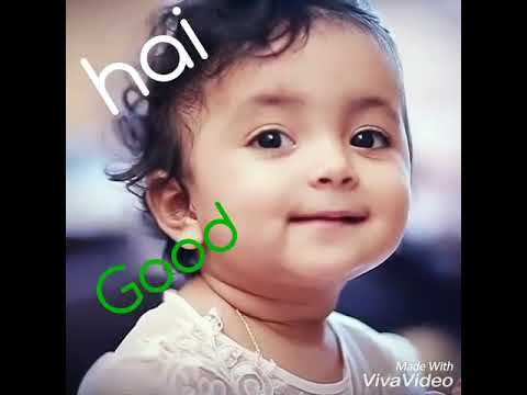Cute Baby Girls Video Says Hai And Good Morning Youtube